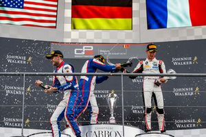 Podium: Ryan Tveter, Trident, David Beckmann, Trident, Anthoine Hubert, ART Grand Prix