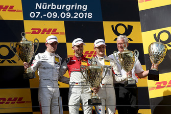 Podium: Winnaar René Rast, Audi Sport Team Rosberg, nummer twee Paul Di Resta, Mercedes-AMG Team HWA, nummer drie Marco Wittmann, BMW Team RMG, Arno Zensen, Audi Sport Team Rosberg