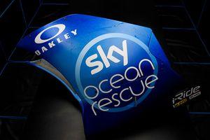Dettaglio della livrea speciale Sky Ocean Rescue