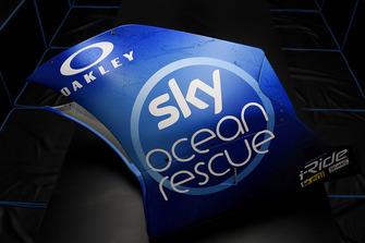 Vue détaillée de la livrée spéciale Sky Ocean Rescue