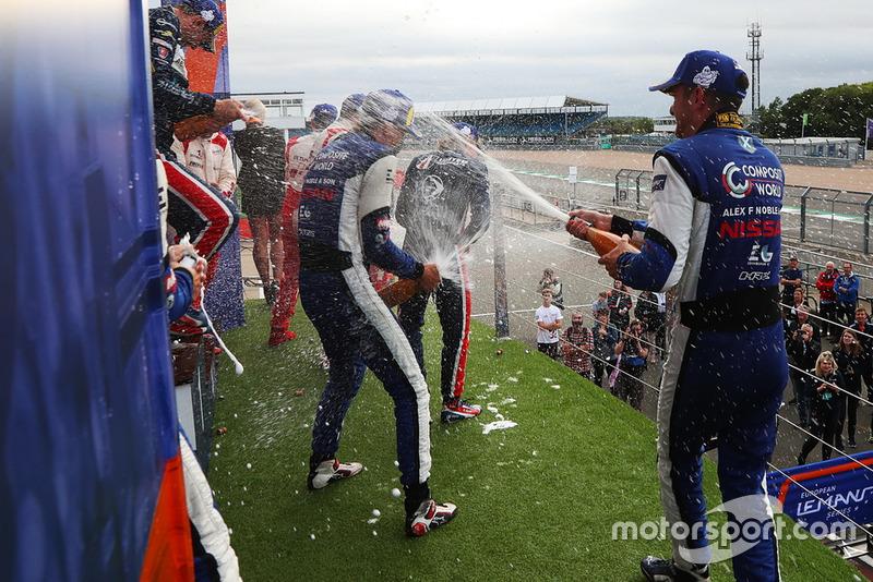 P3 Podio: #7 Ecurie Ecosse / Nielsen Ligier JS P3 - Nissan: Colin Noble, Alex Kapadia, Christian Stubbe Olsen