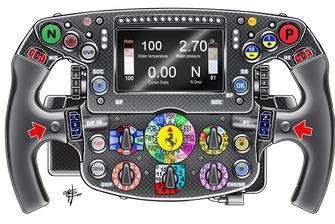 Il volante di Sebastian Vettel, Ferrari SF71H