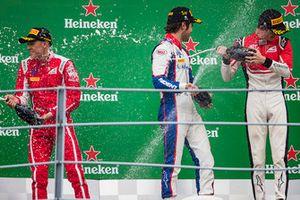 Podium: race winner Pedro Piquet, Trident, second place Giuliano Alesi, Trident, third place Callum Ilott, ART Grand Prix