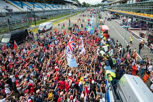 Lewis Hamilton, Mercedes AMG F1, first position, celebrates with the crowds