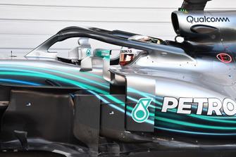 Lewis Hamilton, Mercedes-AMG F1 W09 in parc ferme