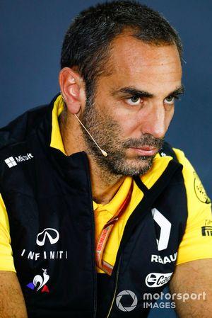 Cyril Abiteboul, directeur général de Renault Sport F1 Team lors de la conférence de presse