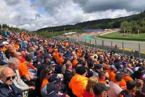 Tifosi olandesi sulla tribuna Orange Experience