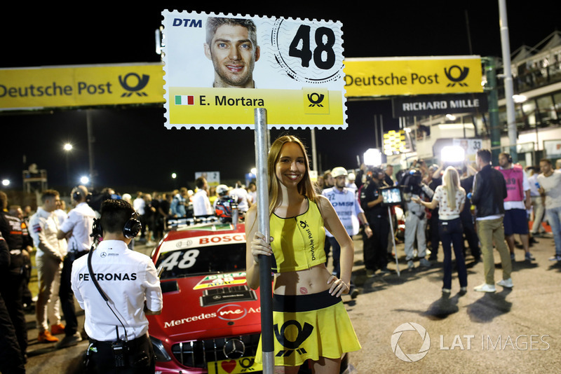 La grid girl di Edoardo Mortara, Mercedes-AMG Team HWA