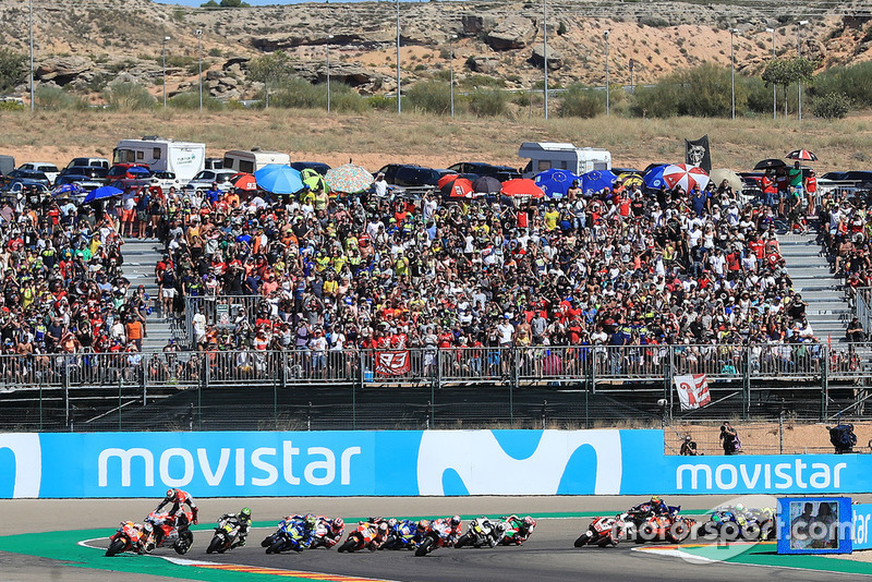 Jorge Lorenzo, Ducati Team, chute au départ
