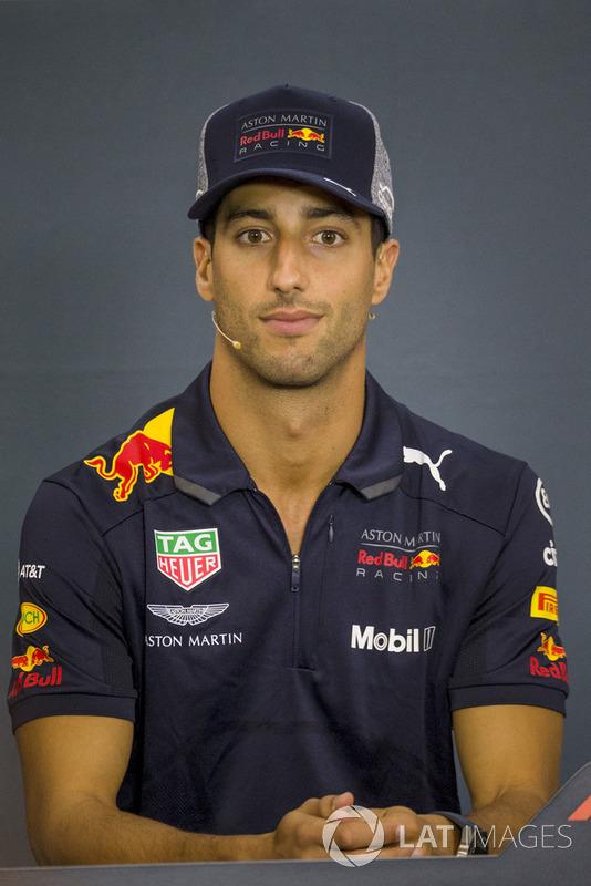 Daniel Ricciardo, Red Bull Racing in the Press Conference