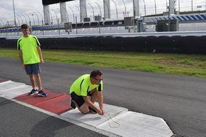 Preparaciones de pista de Charlotte Roval