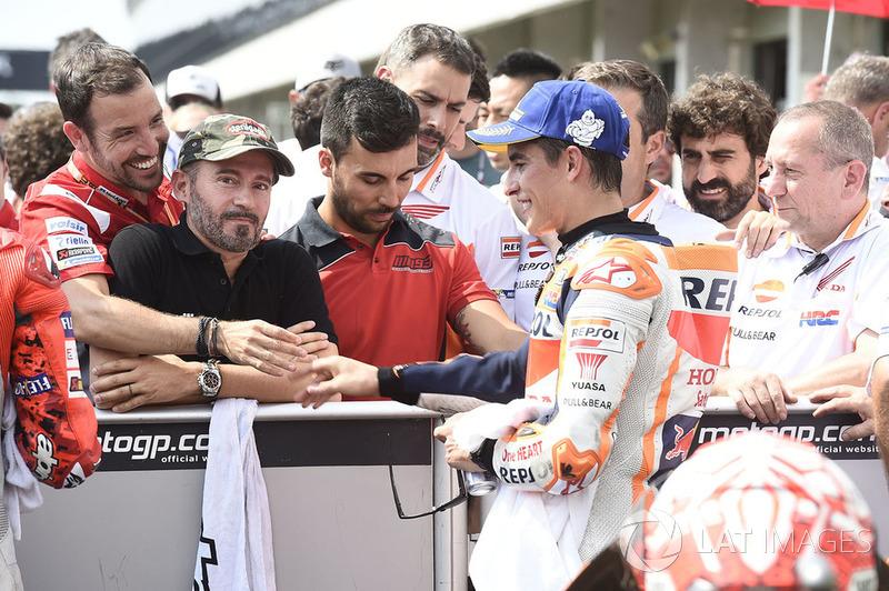 Max Biaggi con Marc Marquez, Repsol Honda Team