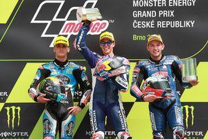 Podium: second place Aron Canet, Estrella Galicia 0,0, Race winner Fabio Di Giannantonio, Del Conca Gresini Racing Moto3, third place Jakub Kornfeil, Prustel GP