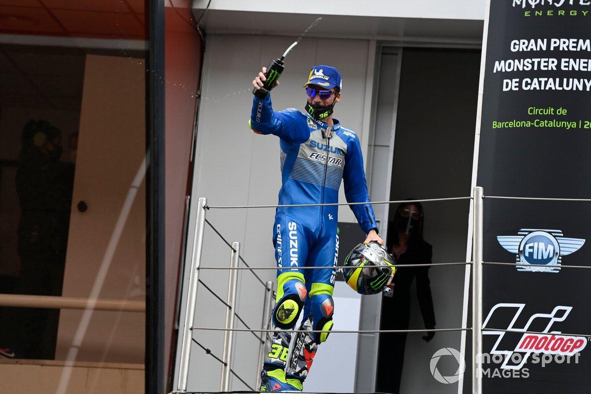 Podio: segundo lugar Joan Mir, Team Suzuki MotoGP