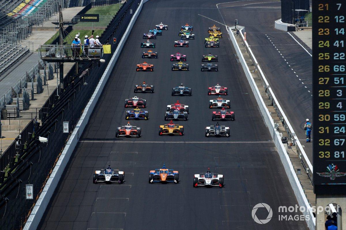 Marco Andretti, Andretti Herta Marco & Curb-Agajanian Honda lidera en la vuelta de formación