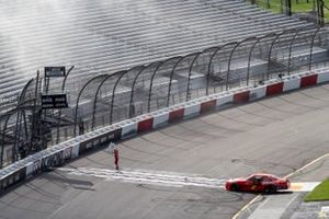 Justin Allgaier, JR Motorsports, Chevrolet Camaro FilterTime ceebrates with the checkered flag