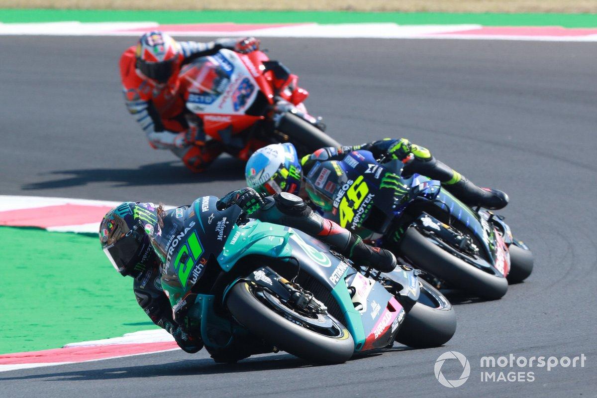 Franco Morbidelli, Petronas Yamaha SRT, Valentino Rossi, Yamaha Factory Racing, Jack Miller, Pramac Racing