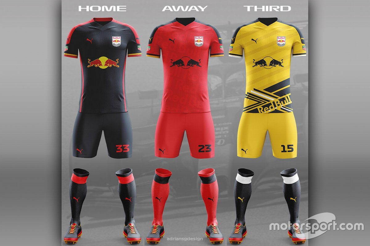 Red Bull Racing football team kit