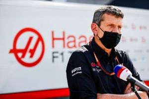 Guenther Steiner, Team Principal, Haas F1, is interviewed for Sky Sports F1