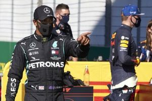 Lewis Hamilton, Mercedes-AMG F1, fête sa pole
