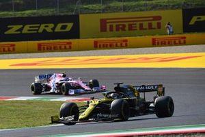 Daniel Ricciardo, Renault F1 Team R.S.20, Lance Stroll, Racing Point RP20