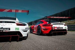 Porsche 911 RSR №91 команды Porsche GT Team: Джанмария Бруни, Рихард Лиц, Фредерик Маковецки, Porsche 911 RSR №92 команды Porsche GT Team: Микаэль Кристенсен. Кевин Эстре, Лоренс Вантхор