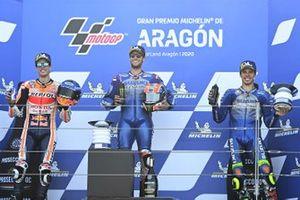 Podium: race winner Alex Rins, Team Suzuki MotoGP, second place Alex Marquez, Repsol Honda Team, third place Joan Mir, Team Suzuki MotoGP