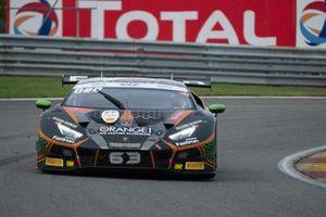 #63 Orange 1 FFF Racing Team Lamborghini Huracan GT3 Evo: Dennis Lind, Andrea Caldarelli, Marco Mapelli