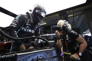 Lewis Hamilton, Mercedes-AMG F1 with Angela Cullen