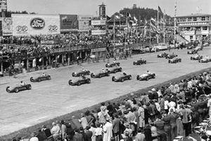 Salida del GP de Alemania de 1953
