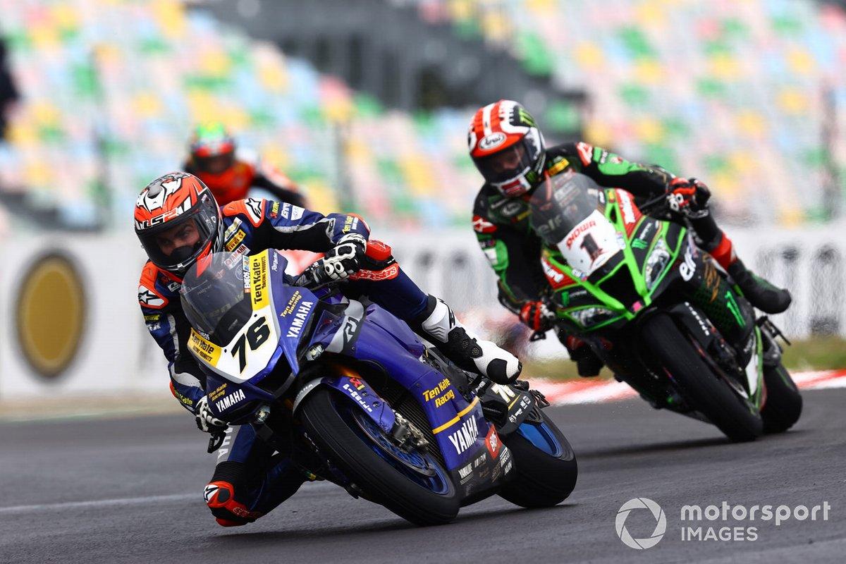 Loris Baz, Ten Kate Racing Yamaha, Jonathan Rea, Kawasaki Racing Team, Chaz Davies, ARUBA.IT Racing Ducati