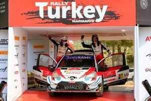 Race winner Elfyn Evans, Scott Martin, Toyota Gazoo Racing WRT Toyota Yaris WRC