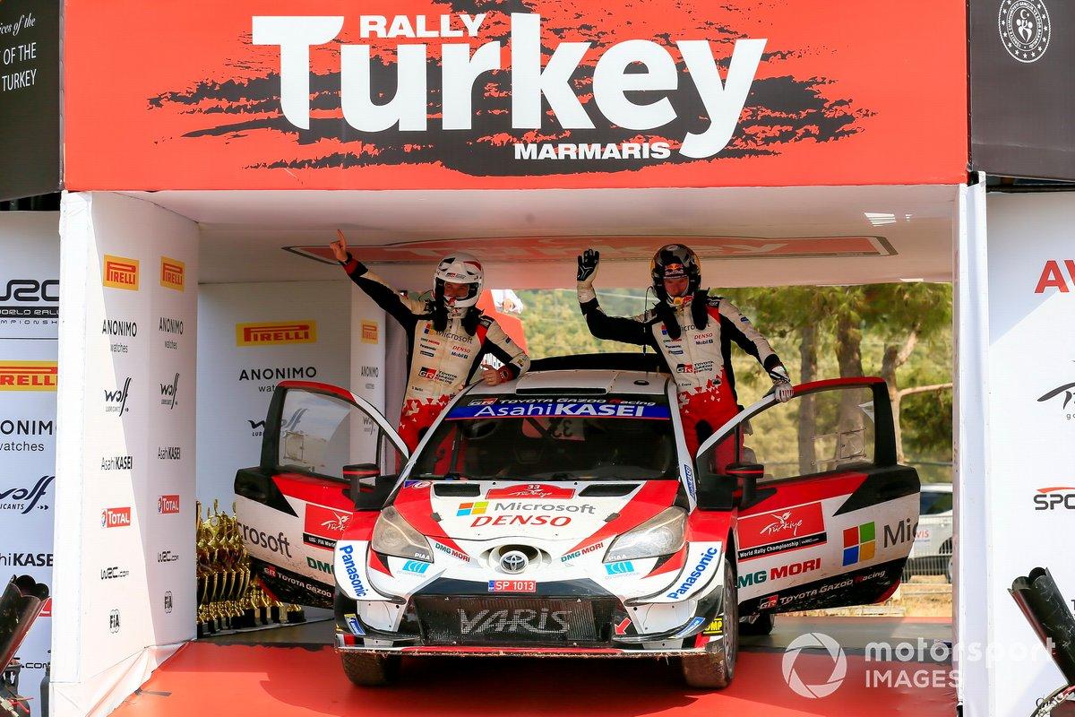 Ganador Elfyn Evans, Scott Martin, Toyota Gazoo Racing WRT Toyota Yaris WRC