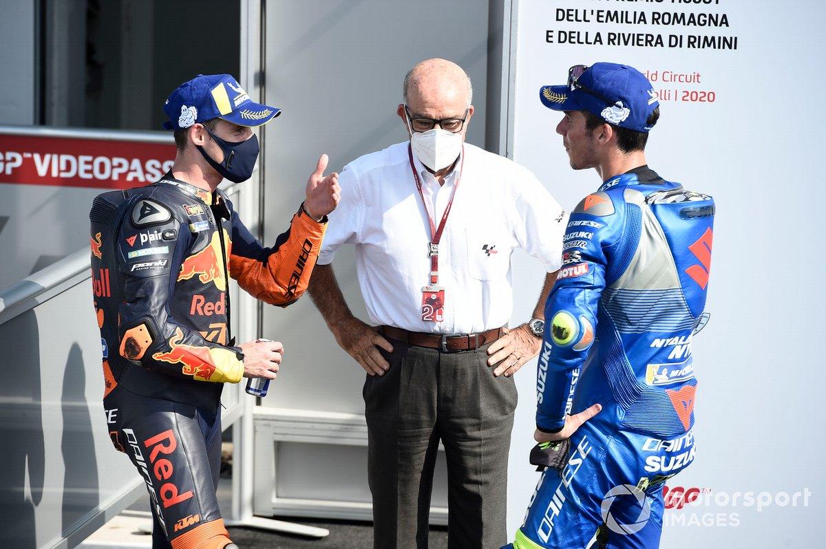 Pol Espargaro, Red Bull KTM Factory Racing, Joan Mir, Team Suzuki MotoGP, Emilo Ezpeleta