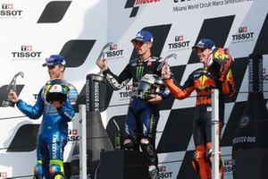 Joan Mir, Team Suzuki MotoGP, Maverick Vinales, Yamaha Factory Racing Pol Espargaro, Red Bull KTM Factory Racing.