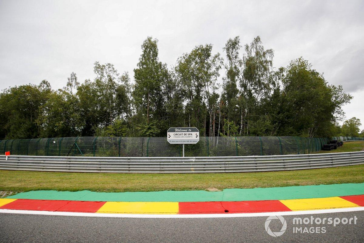 Señal de bienvenida a Spa-Francorchamps