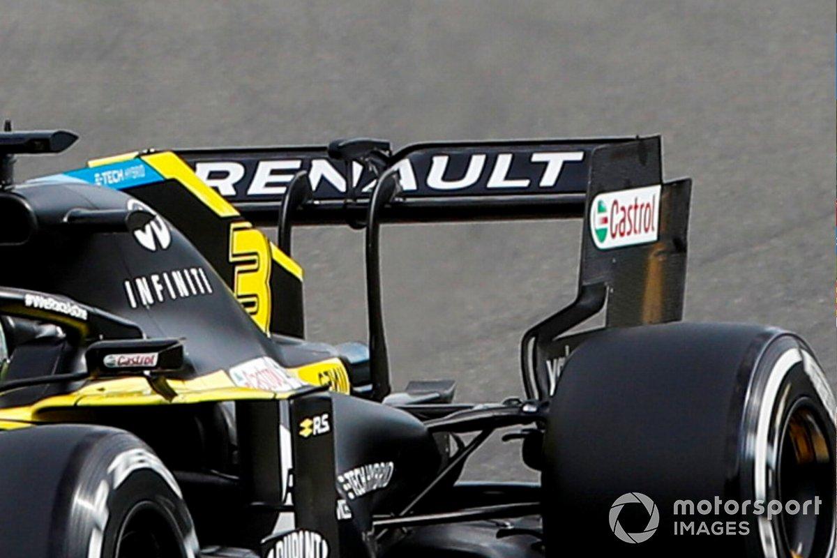 Detalle del alerón trasero de Daniel Ricciardo, Renault F1 Team R.S.20