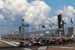 Start zum IndyCar-Finale 2020 in St. Petersburg: Will Power, Team Penske Chevrolet, führt