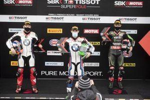 Tom Sykes, BMW Motorrad WorldSBK Team, Eugene Laverty, BMW Motorrad WorldSBK Team, Jonathan Rea, Kawasaki Racing Team