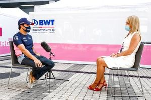 Sergio Perez, Racing Point, interviewed bt Rachel Brookes, Sky TV