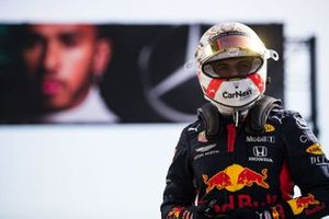 Max Verstappen, Red Bull Racing, in Parc Ferme after Qualifying