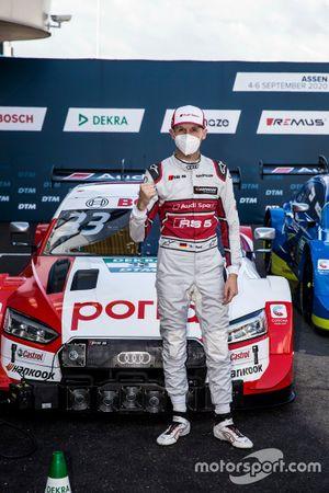 Pole sitter René Rast, Audi Sport Team Rosberg