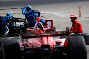 Marcus Ericsson, Chip Ganassi Racing Honda, pit stop, Felix Rosenqvist, Chip Ganassi Racing Honda