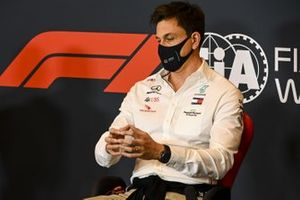 Toto Wolff, Executive Director (Business), Mercedes AMG, in a Press Conference