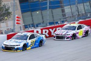 Ryan Preece, JTG Daugherty Racing, Chevrolet Camaro Scott Brand, Jimmie Johnson, Hendrick Motorsports, Chevrolet Camaro Ally