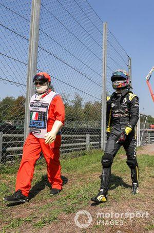Daniel Ricciardo, Renault F1, después de su avería