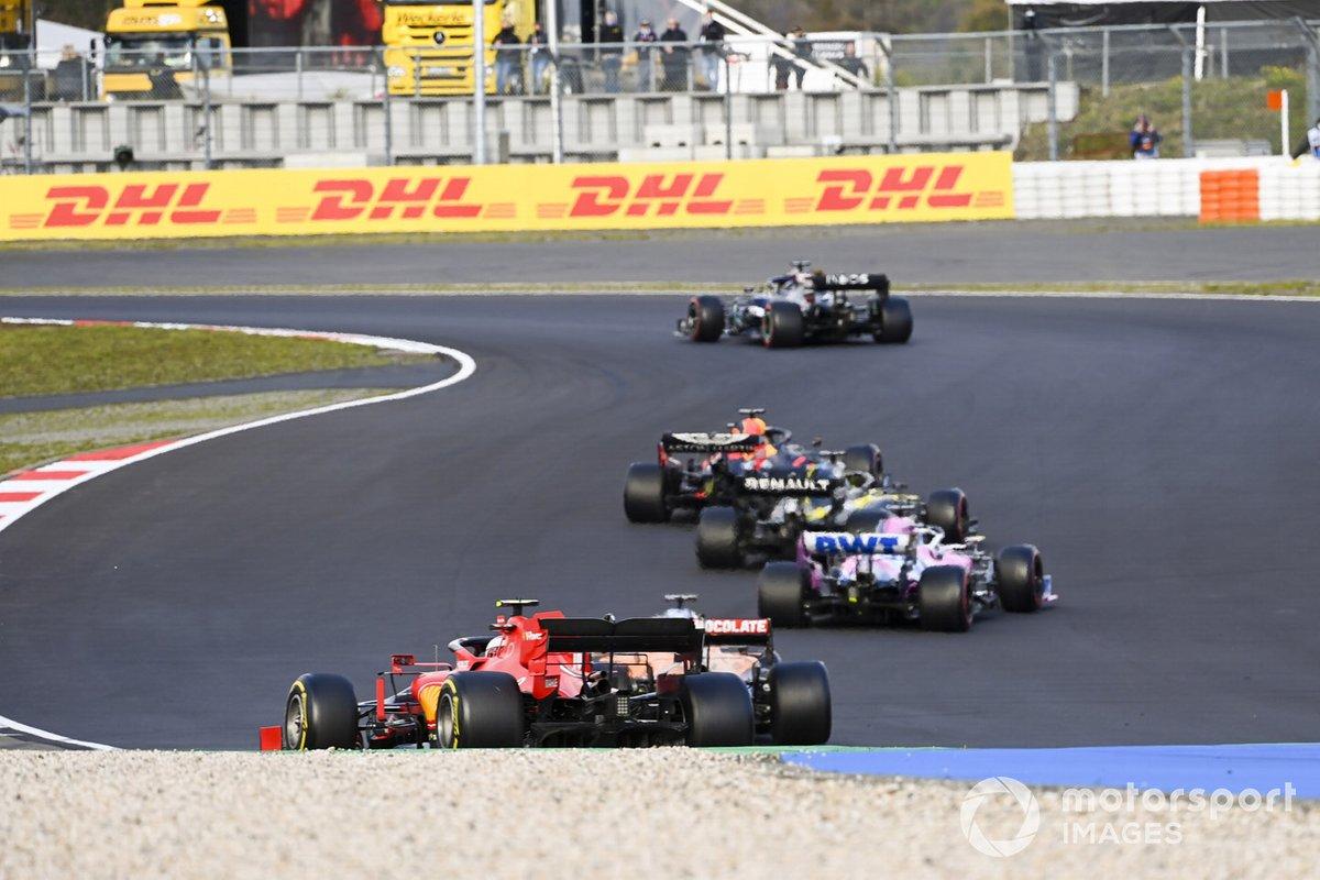 Lewis Hamilton, Mercedes F1 W11 Max Verstappen, Red Bull Racing RB16, Daniel Ricciardo, Renault F1 Team R.S.20, Sergio Perez, Racing Point RP20
