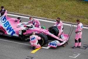 Sergio Perez, Racing Point RP20, sulla griglia di partenza