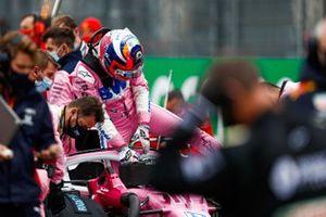 Sergio Perez, Racing Point, sulla griglia di partenza