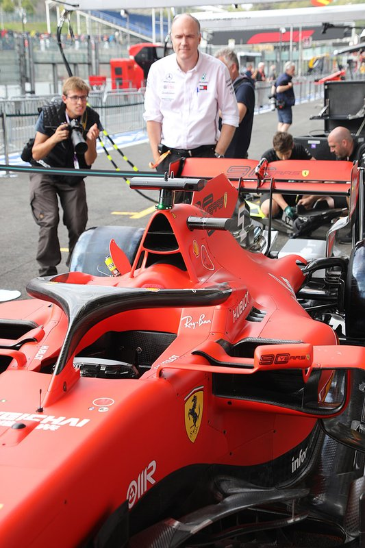 Ferrari SF90 in the pitlane